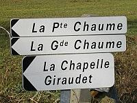 Roadsign to LA GRANDE CHAUME Cressanges
